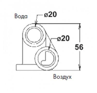 микрофорсунка белая vagner (abs) Vagner (Чехия) гидромассажное оборудование