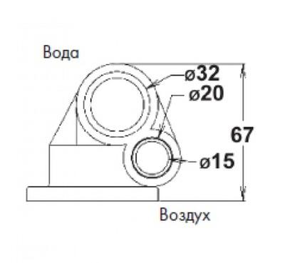 минифорсунка 24 белая vagner (abs) Vagner (Чехия) гидромассажное оборудование