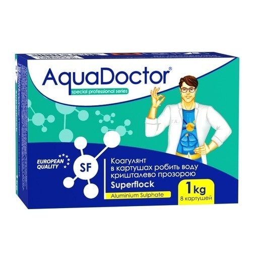 Флокулянт AquaDoctor Superflock - 1 кг (40 таблеток)