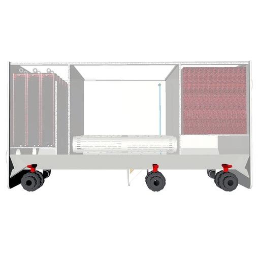 трехкамерный проточный фильтр для пруда aquaking red label 3 chamber filter 20000 AquaKing (Нидерланды) проточные фильтры для прудов