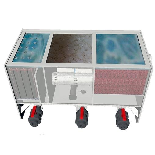 трехкамерный проточный фильтр для пруда aquaking red label 3 chamber filter 9000 AquaKing (Нидерланды) проточные фильтры для прудов