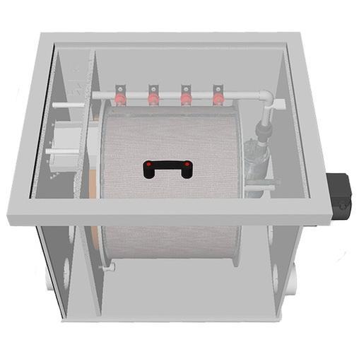 барабанный фильтр для пруда (узв) aquaking red label drum filter 30/35 AquaKing (Нидерланды) барабанные фильтры