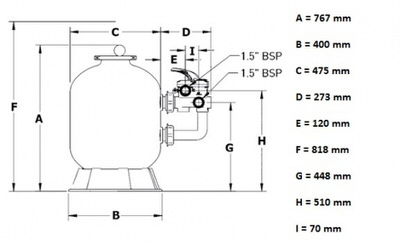 фильтровальная емкость pentair azur 475 мм - 9 м3/час Pentair (Бельгия) фильтровальные емкости