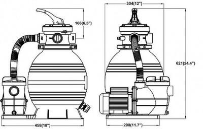 фильтрационная установка bridge top 5, 350 мм - 5 м3/час Bridge (Китай) фильтровальные установки