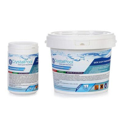 хлор-шок crystal pool dry chlorine granules - 1 кг Crystal Pool (Германия) химия для бассейна
