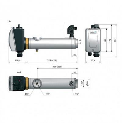 электронагреватель для бассейна compact titan pahlen - 3 квт Pahlén (Швеция) электронагреватель для бассейна