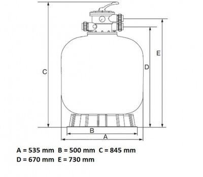 фильтрационная емкость emaux v450 мм - 8 м3/час Emaux (Китай) фильтровальные емкости