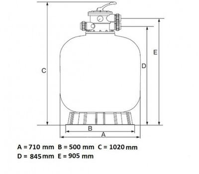 фильтрационная емкость emaux v700 мм - 20 м3/час Emaux (Китай) фильтровальные емкости