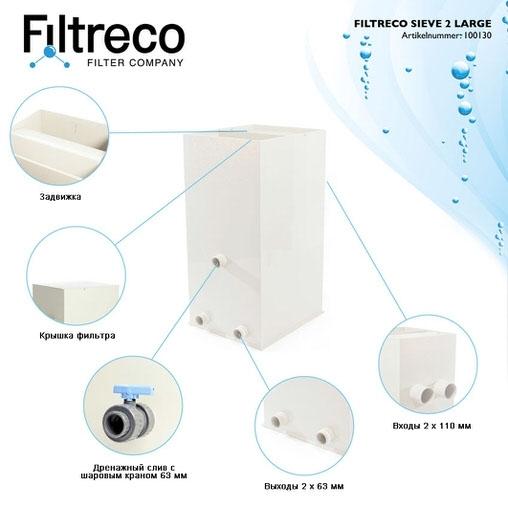 ситчатый фильтр для пруда (узв) filtreco sieve 2 large Filtreco (Нидерланды) ситчатые предфильтры