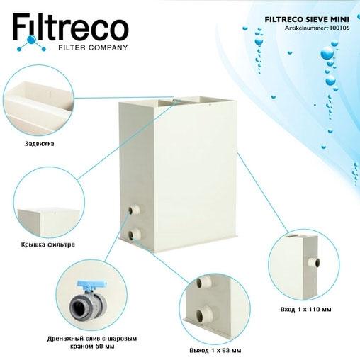 ситчатый фильтр для пруда (узв) filtreco sieve mini Filtreco (Нидерланды) ситчатые предфильтры