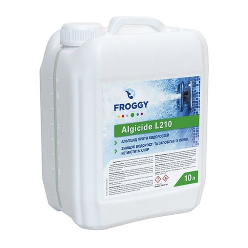 альгицид froggy algicide l210 - 10 л Коагулянт (Украина) химия для бассейна