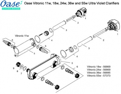 уф-стерилизатор для пруда oase vitronic 36w Oase (Германия) уф-стерилизаторы