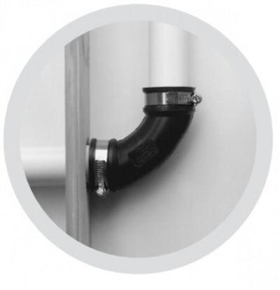 """гибкое колено pipeconx 90 гр 2"""" / 63 мм Pipeconx (США) гибкие резиновые соединения"""