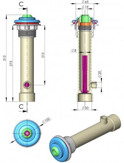 гидромассажный набор astral 195 мм (под лайнер) Astral pool (Испания) гидромассажное оборудование