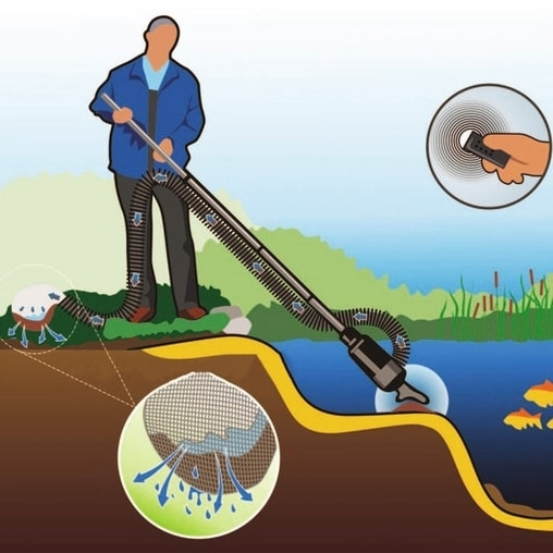Прудовый илосос Jebao Pond Cleaner PC-3