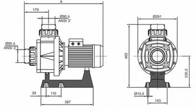 насос для бассейна kripsol ka 350 t - 63 м3/час Kripsol (Испания) насосы гидромассажа, противотока