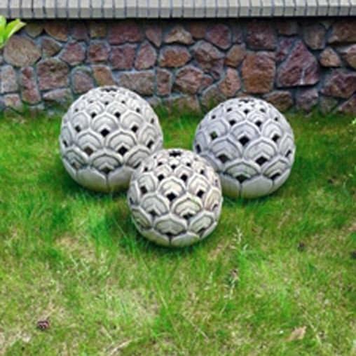Светильник садовый керамический, Лотос (45cм)