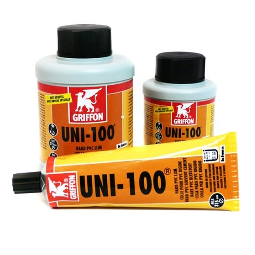 клей для пвх труб griffon uni-100 - 1000 мл Griffon (Испания) клей, очиститель, герметик