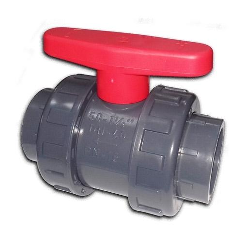 кран шаровой двухпозиционный пвх coraplax - d 63 мм Coraplax (Испания) краны, обратные клапана