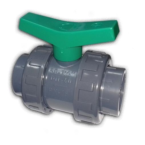 кран шаровой двухпозиционный пвх coraplax - d 90 мм Coraplax (Испания) краны, обратные клапана