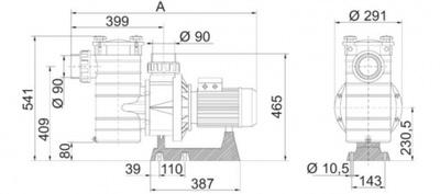 насос для бассейна kripsol kap250  - 41м3/ч 3 f Kripsol (Испания) насосы для бассейна