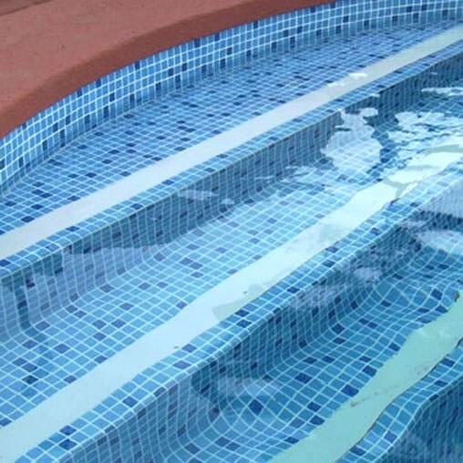 Пленка ПВХ для бассейна Elbeblue line Mosaic blue, противоскользящая (ширина 1.65 м)