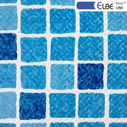 Плівка ПВХ для басейну Elbeblue line Mosaic blue, протиковзка (ширина 1.65 м)