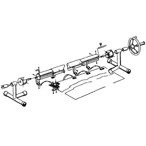 наматывающее устройство (ролета) для солярной пленки (т-стойки) vagner 5,4-7,1 м переносное Vagner (Чехия) солярная пленка и наматывающие устройства