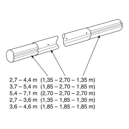 наматывающее устройство (ролета) для солярной пленки vagner 2,7-4,4 м cтационарное Vagner (Чехия) солярная пленка и наматывающие устройства