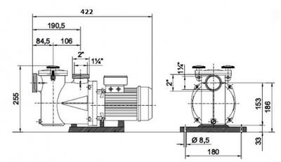 насос для бассейна kripsol nk 25 - 5,6 м3/час Kripsol (Испания) насосы для бассейна