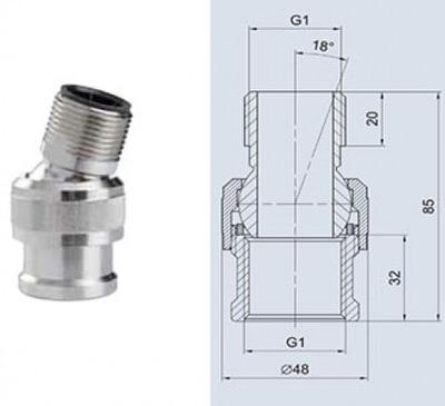 шаровое соединение для фонтанных насадок oase ball joint 10 Oase (Германия) фонтанные насадки