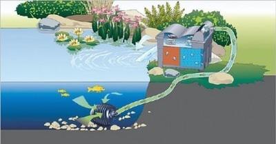 комплект фильтрации для пруда oase biosmart set 36000 Oase (Германия) проточные фильтры для прудов