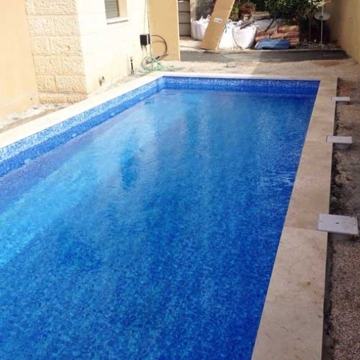 Пленка ПВХ для бассейна OgenFlex Galit NG 30 Pool Sparks, голубая (ширина 1.65 м)