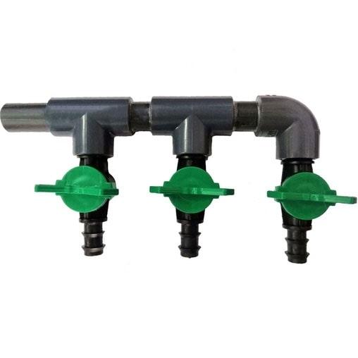 Распределитель воздуха пластиковый AquaKing на 3 крана, 16 мм