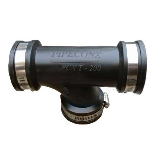"""гибкий тройник pipeconx 3"""" / 90 мм Pipeconx (США) гибкие резиновые соединения"""