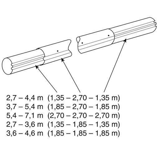 наматывающее устройство (ролета) для солярной пленки (с регулировкой высоты) vagner 5,4 - 7,1 м cтационарное Vagner (Чехия) солярная пленка и наматывающие устройства