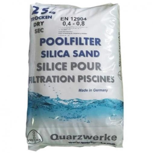 Кварцовий пісок Quarzwerke (0,4 - 0,8 мм), 25 кг