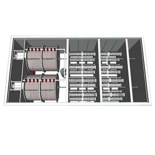 комбинированный барабанный фильтр для пруда (узв) aquaking  red label combi drum filter 100/200 AquaKing (Нидерланды) барабанные фильтры