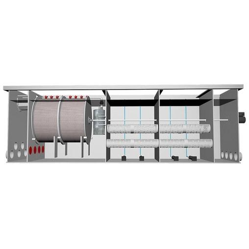 комбинированный барабанный фильтр для пруда (узв) aquaking  red label combi drum filter 75/100 AquaKing (Нидерланды) барабанные фильтры