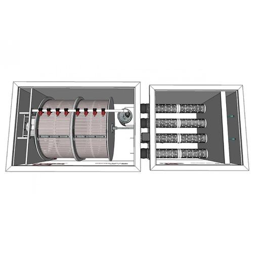 биологический фильтр для пруда (узв) aquaking red label moving bed filter 75/80 AquaKing (Нидерланды) барабанные фильтры