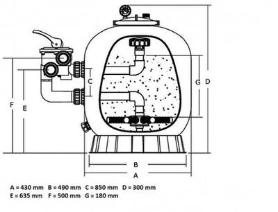 фильтрационная емкость emaux s650 мм - 15 м3/час Emaux (Китай) фильтровальные емкости