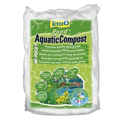 грунт для всех видов прудовых растений tetrapond aquatic compost - 8л Tеtra pond (Германия) для высадки растений