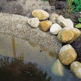пленка имитирующая камень oase, ширина - 0,4м (песочная) Oase (Германия) пленка с гравием