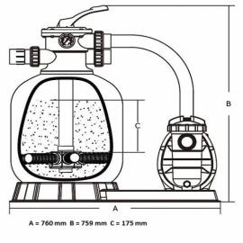фильтрационная установка emaux fsf400 мм - 6,48 м3/час Emaux (Китай) фильтровальные установки