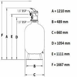 фильтровальная емкость pentair azur 660 мм - 16.5 м3/час Pentair (Бельгия) фильтровальные емкости