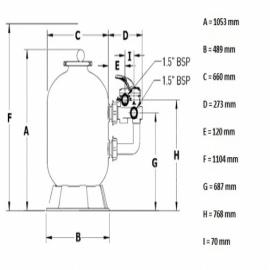 фильтровальная емкость pentair azur 660 мм - 16 м3/час Pentair (Бельгия) фильтровальные емкости
