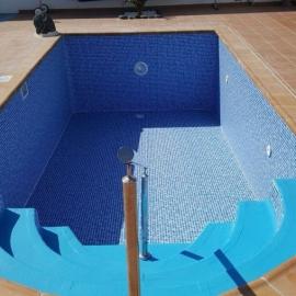 Пленка ПВХ для бассейна Cefil Mediterraneo темная мозаика (ширина 2.05 м)