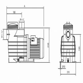 насос для бассейна kripsol ck 100 - 17.2 м3/час Kripsol (Испания) насосы для бассейна