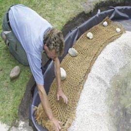 кокосовая сетка, ширина 2,0м (ячейка 50х50мм) Sri Ragavendra Coir Products (Индия) кокосовое полотно