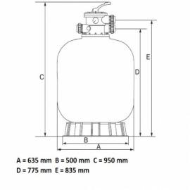 фильтрационная емкость emaux v650 мм - 15 м3/час Emaux (Китай) фильтровальные емкости